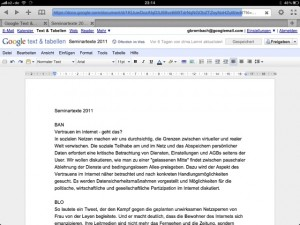 wof r das ipad gut ist collaborativ an google docs arbeiten dotcom blog. Black Bedroom Furniture Sets. Home Design Ideas